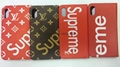 Hot selling supreme lv leather case for iphone 6 6plus 7 7plus iphone 8 case