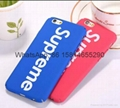 New Hot selling supreme cover case for iphone 6 6plus 7 7plus iphone 8 case