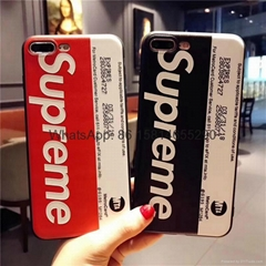 New model new pattern supreme cover case for iphone 6 6plus 7 7plus iphone 8 x