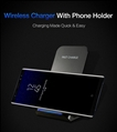 QI Wireless Charger For iPhone X Smart IC Wireless Fast Charger Phone Holder 4