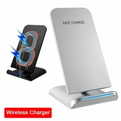 QI Wireless Charger For iPhone X Smart IC Wireless Fast Charger Phone Holder
