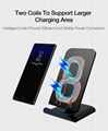 QI Wireless Charger For iPhone X Smart IC Wireless Fast Charger Phone Holder 6