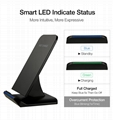 QI Wireless Charger For iPhone X Smart IC Wireless Fast Charger Phone Holder 7