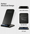 QI Wireless Charger For iPhone X Smart IC Wireless Fast Charger Phone Holder 8