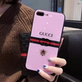 New Tempered Glass Gucc cover case for iphone X 8 8plus soft tpu iphone 7 7plus