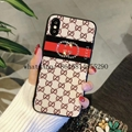 New Tempered Glass Diamond Gucc cover case for iphone X 8 8plus 7 7plus 6 6plus