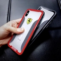 New clear Ferrari porsche car logo case for iphone X 8 8plus 7 7plus
