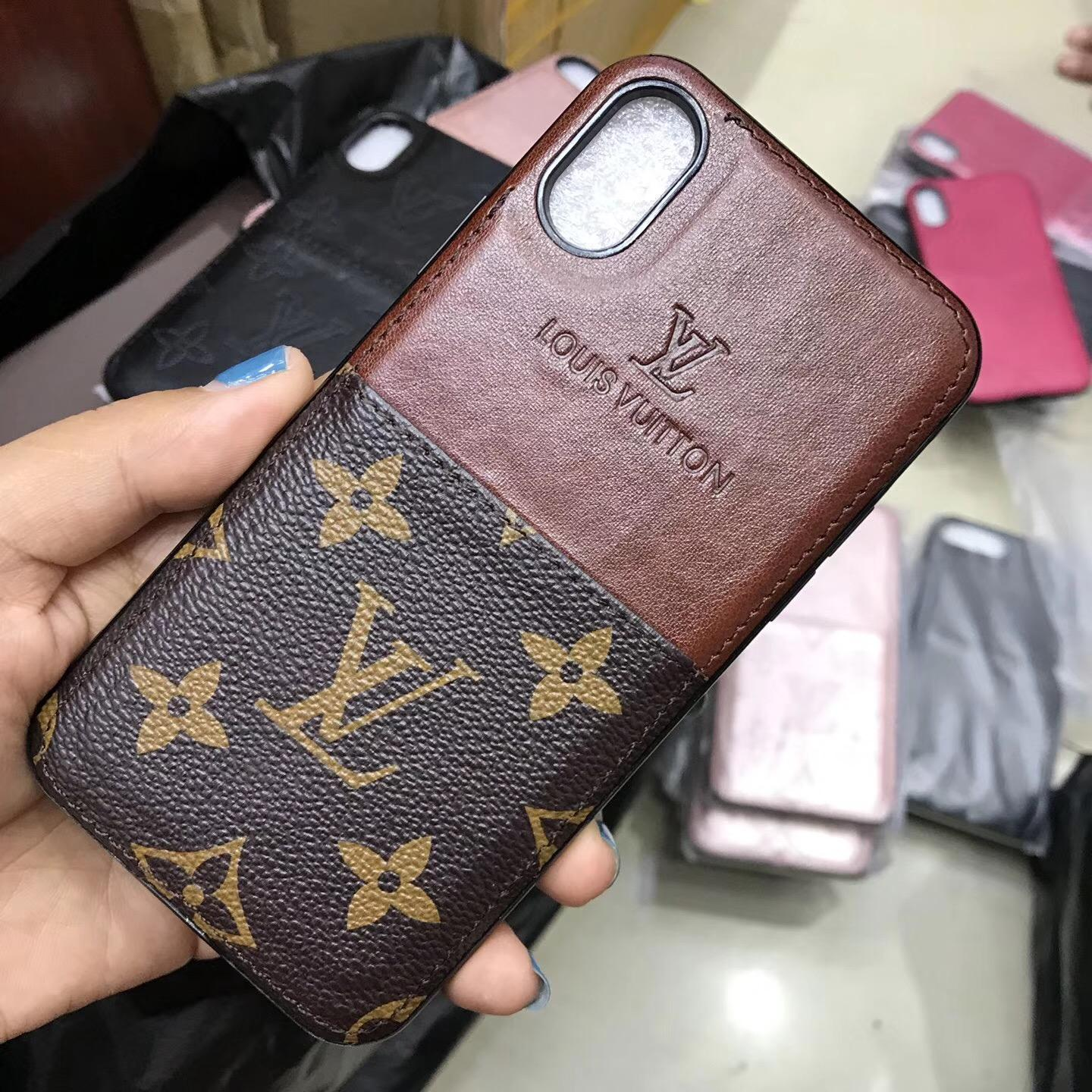 Luxury brand    case with card for iphone X 8 8plus 7 7plus 6 6plus  3