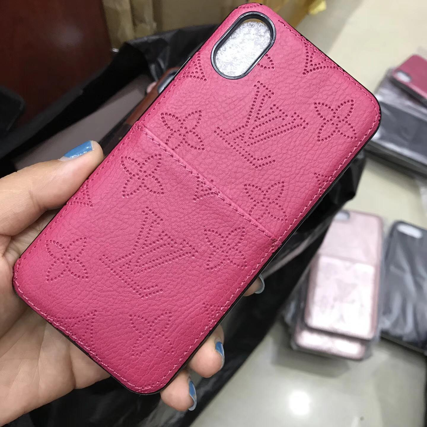 09985bfc54f7 ... Luxury brand LV case with card for iphone X 8 8plus 7 7plus 6 6plus ...