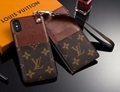 AAAAA+ New Ultra-thin official website LV leaher case for iphone X 8 8plus 7  6