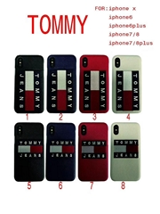 Wholesale AAAAA+ quality tommy jeans phone case for iphone X 8 8plus 7 7plus