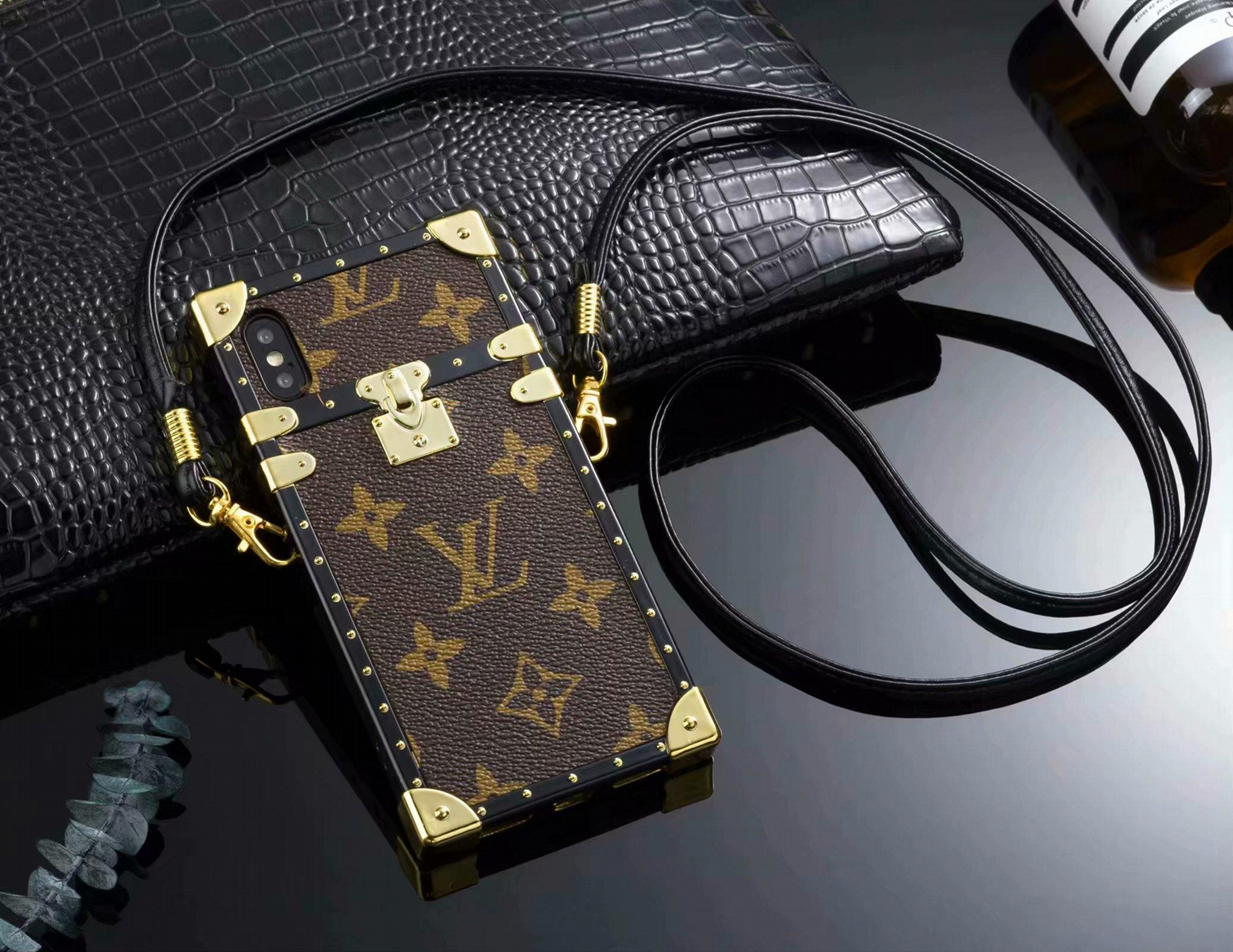 1bc363fb899cf New LOUIS VUITTON LV leather case for iphone X XS XS MAX XR iphone 8 8plus  ...