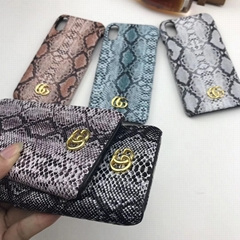 Snakeskin grain case gucci case for iphone x xs max xr iphone 7 7plus 8 8plus