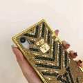 New Gold LV model case for iphone xs xs max x xr  iphone 8 8 plus 7 7plus