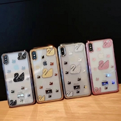 4 colors electroplate cygnet cover case for iphone XS MAX XR  X 7 7plus 8 8plus