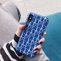 New 3D Leather Dior cover case for iphone xs max xr xs x 7 7plus 8 8plus
