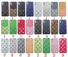 New official web LV phone case with card bag for iphone xs max xr x 7 8 8plu