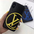 Big LV logo case for  iphone xs max xr x 7 8 8plus samsung s10+ s10 s9+ note9