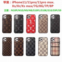 LV leather case with card bag for iphone 11 pro max xs max xr x 7 8plus samsung (Hot Product - 2*)