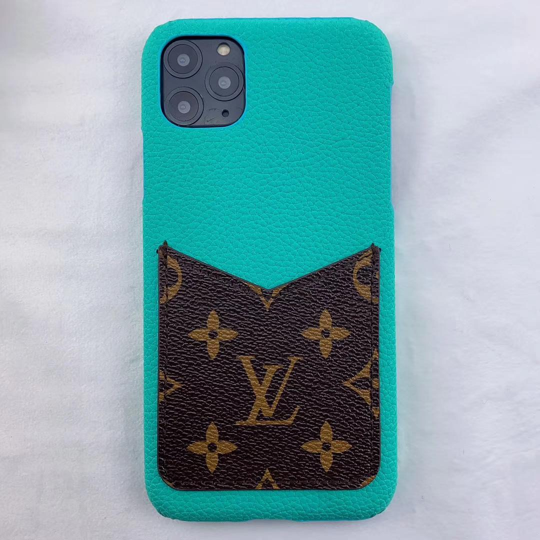 leather case with card bag for iphone 11 pro max xs max xr x 7 8plus samsung 2