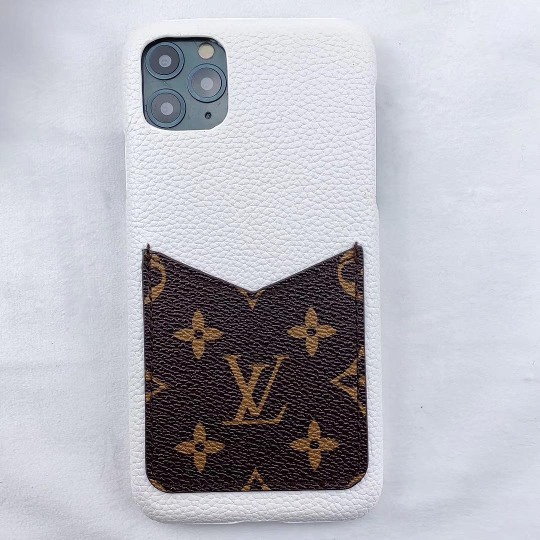 leather case with card bag for iphone 11 pro max xs max xr x 7 8plus samsung 4