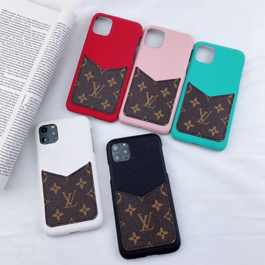 leather case with card bag for iphone 11 pro max xs max xr x 7 8plus samsung 5