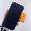 leather case with card bag for iphone 11 pro max xs max xr x 7 8plus samsung 8