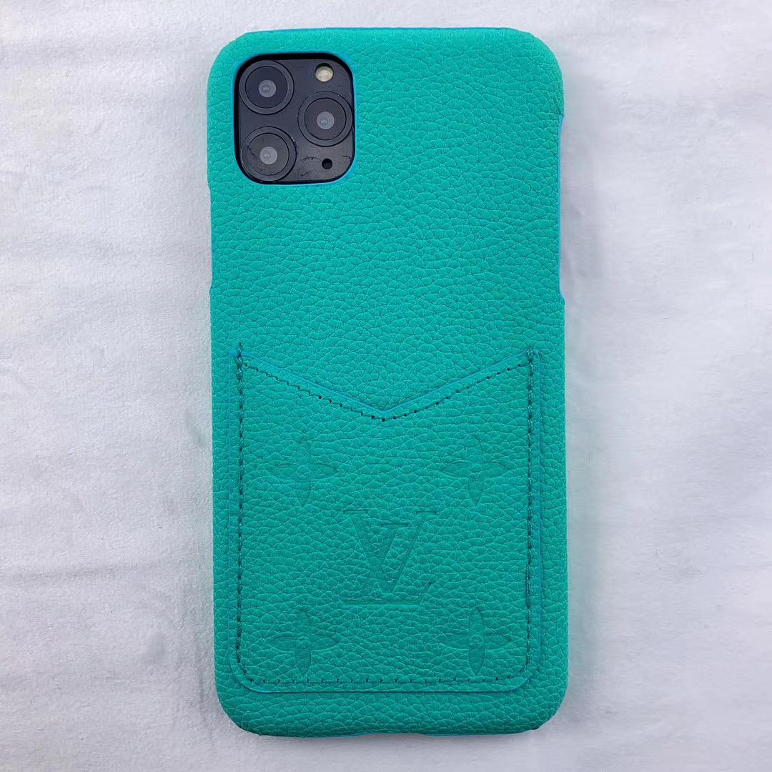 leather case with card bag for iphone 11 pro max xs max xr x 7 8plus samsung 9