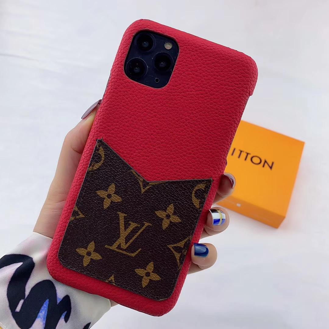 leather case with card bag for iphone 11 pro max xs max xr x 7 8plus samsung 10