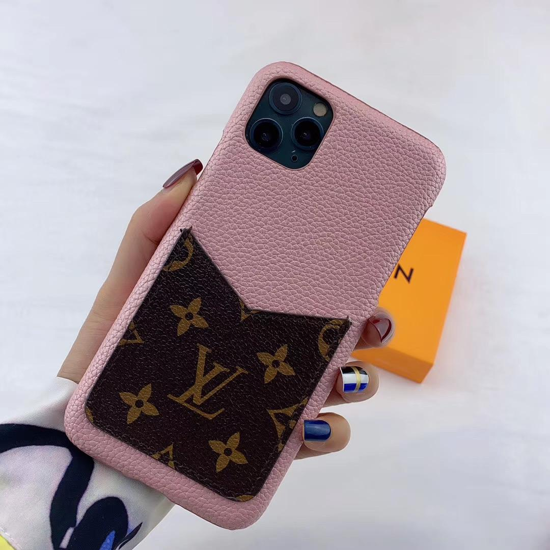 leather case with card bag for iphone 11 pro max xs max xr x 7 8plus samsung 16