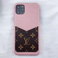 leather case with card bag for iphone 11 pro max xs max xr x 7 8plus samsung 17