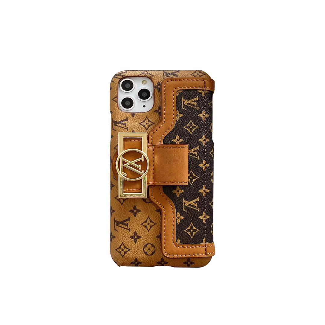 leather case with card bag new logo for iphone 11 pro max xs max xr x 7 8plus 3
