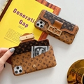 LV leather case with card bag new logo for iphone 11 pro max xs max xr x 7 8plus