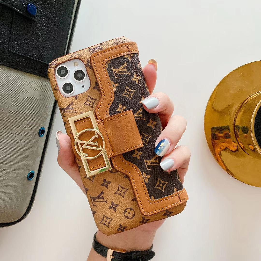 leather case with card bag new logo for iphone 11 pro max xs max xr x 7 8plus 7