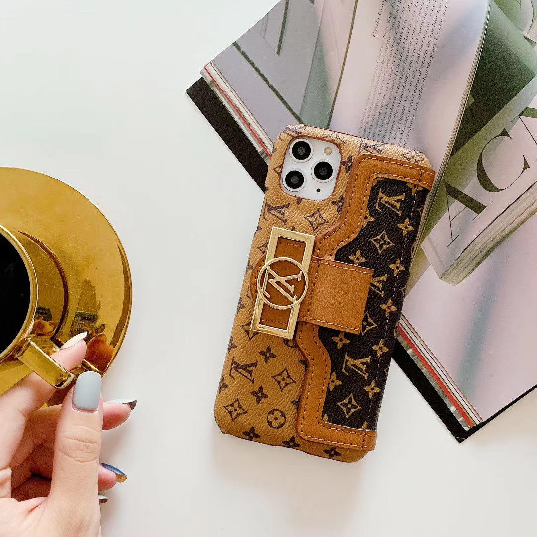 leather case with card bag new logo for iphone 11 pro max xs max xr x 7 8plus 9