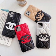New CC official website leather case with card bag for iphone 11 pro max xs max
