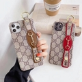Gucc leather case with belt for iphone 11 pro max xs max xr x 7 8plus