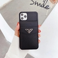 Prada leather case with card bag for iphone 11 pro max xs max xr x 7 8plus