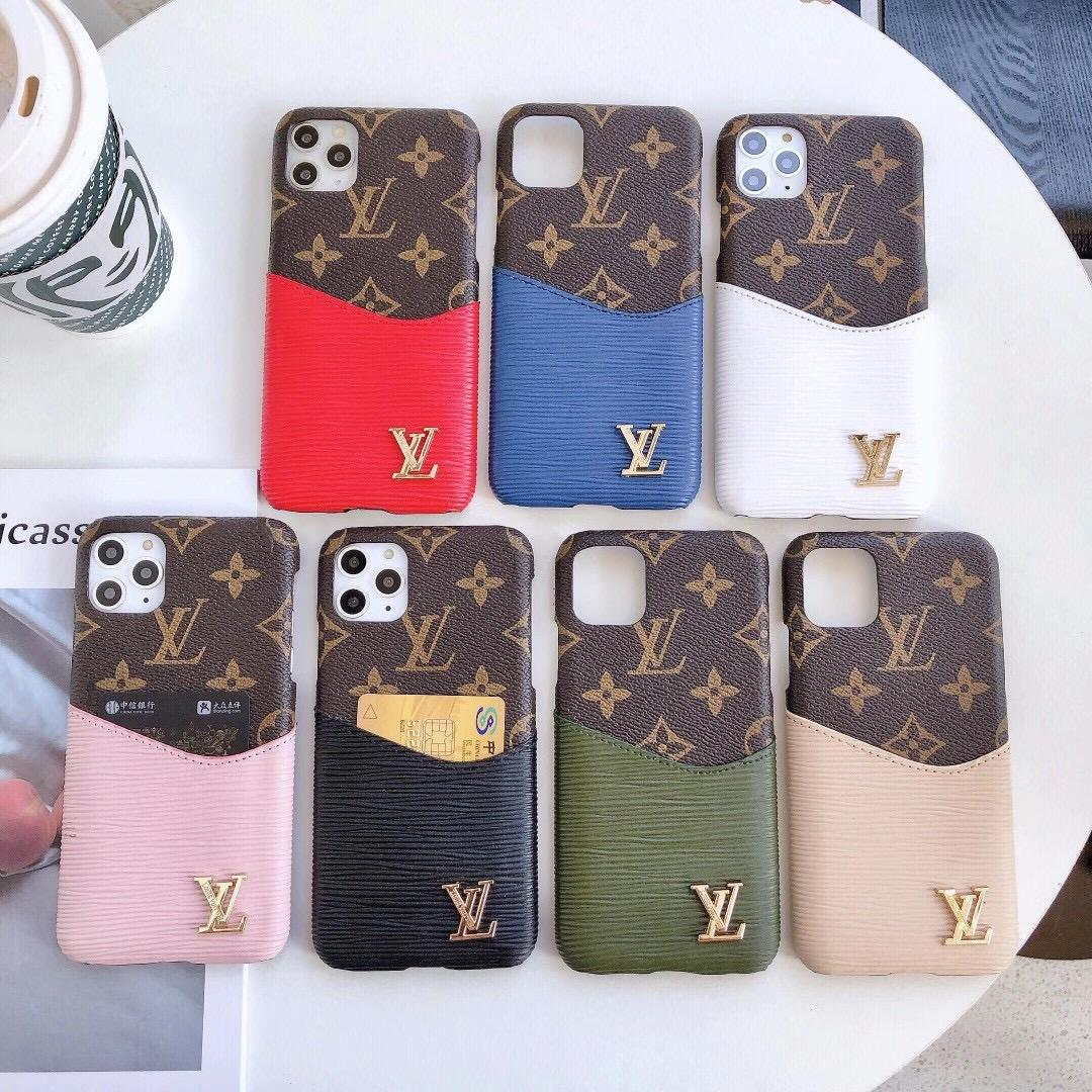 Wholesale brand LV case for iphone 12 pro max iphone 11 PRO max xs max 8plus