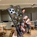 Beautiful mirrors diamonds LV case iphone 12 pro max xs max xr 11 pro max 8 plus