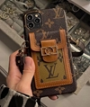 Beautiful LV case with card bag iphone 12 pro max xs max xr 11 pro max 8 plus