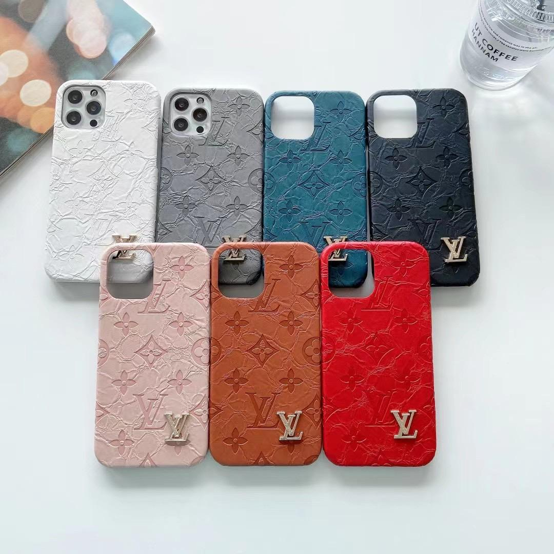 LV phone case with card and logo for iphone 12 pro max xs max xr 11 pro max 8