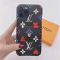 Wholesale colourful LV case with card for iphone 12 pro max 11 pro max xs max xr