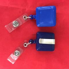 promotional metal carabiner round Key chain key ring yoyo badge reel with Belt c