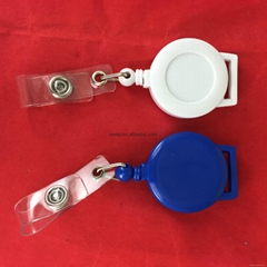 promotional pickproof Retractable pull reel for 32mm key chain badge