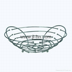 Good Quality Chrome Plating Metal Storage Basket Fruit Basket Vegetable Basket H