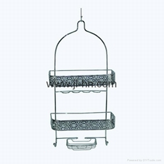 Stainless steel hotel bathroom accessories hanging wire shower bath caddy