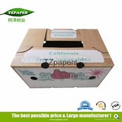 同澤紙業定製果蔬防水包裝運輸蠟紙箱