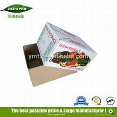 同澤紙業工廠定製水果防水紙箱冷鏈運輸蠟紙箱