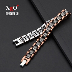 TSH-11厂家直销玫瑰金锗石手链
